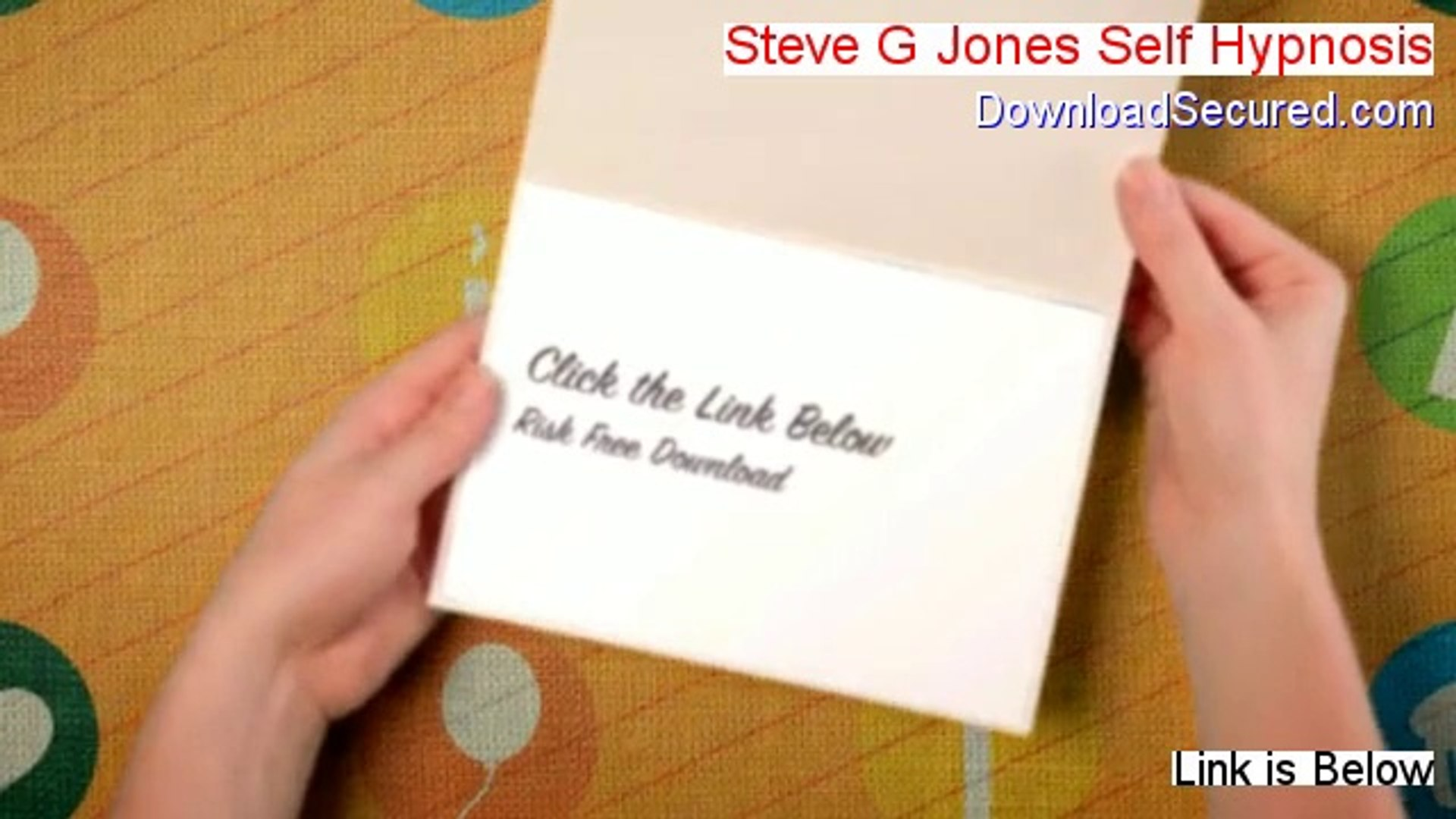 Steve G Jones Self Hypnosis Free Download - Download Now