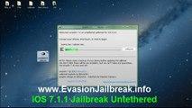 Comment Jailbreak Untethered iOS 7.1.1 avec Cydia installation à partir Evasion
