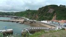 Paisaje y ambiente en puerto y playa de Candás, Asturias 27 junio 2014