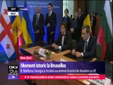 Moment istoric la Bruxelles. Republica Moldova, Ucraina şi Georgia au semnat Acordul de Asociere cu Uniunea Europeană