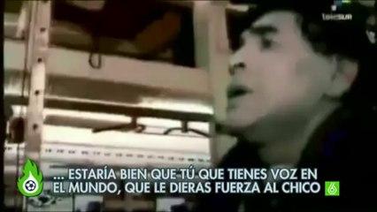 The dialogue between Lugano and Maradona for the punishment of Luis Suarez