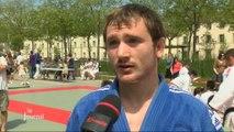 Judo Club Yonnais: Dernier entrainement sur la place Napoléon