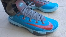 Cheap Kevin Durant Shoes,Cheap Nike Kevin Durant 6 vi maryland blue crab on feet