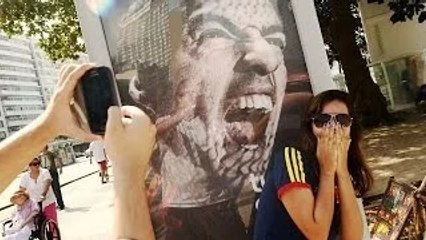 World Cup 2014 - Suarez Posters Become Tourist Attractions In Brazil