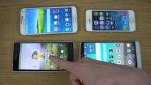 GTA San Andreas LG G3 vs. Samsung Galaxy S5 vs. iPhone 5S vs. Sony Xperia Z2 - Gaming Comparison