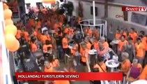 Marmaris'te Hollandalıların çeyrek final sevinci