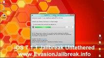 iOS 7.1.1 Jailbreak UNTETHERED Evasi0n7 on iPhone 5S/5/4S/4, iPad Air/4/3/2,