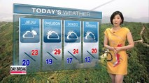 Hot and humid afternoon, monsoon rain on Jeju this afternoon
