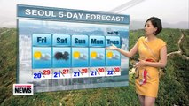 Muggy day in store, rain expected some regions down south
