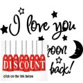 Best Price I love you to the moon and back again! cute baby nursery wall art wall sayings Review