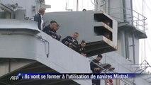 Navires Mistral: arrivée de 400 marins russes à Saint-Nazaire