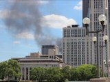 Downtown Columbus Ohio Fire - Never Touch Electric Lines