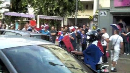 Maubeuge : Les supporters de l'équipe de France fêtent la qualification