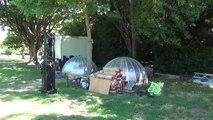 Premier jour des installations du Mondial à Pétanque au parc Borély .m2ts