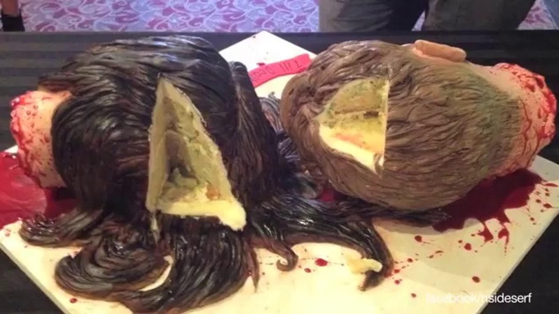 Cake Artist Designs Severed Head Cake