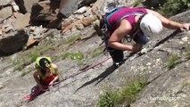 Escalade Gorges de l'Arveyron Rocher des Mottets Chamonix Mont-Blanc massif