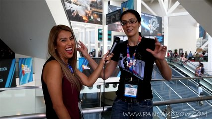 Hanging out with Adrianne Curry at E3 2014