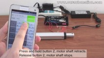 How to Use Mobile Phone to Remote Control Linear Actuator Motor