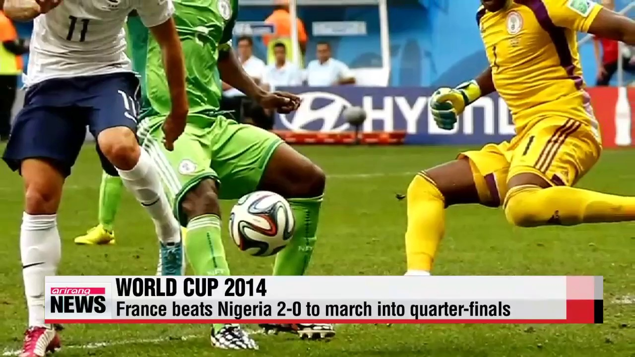 World Cup France wins, enters quarterfinals with Germany