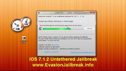 HowTo ios 7.1.2 JAILBREAK UNTETHERED Evasion iPhone 5S,5C,4S,4,iPod Touch 5 & iPad Mini 2, Air,4,3