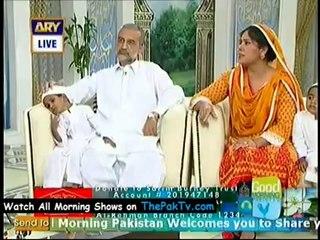 Sarim Burney and Aliya sarim at Good Morning Pakistan
