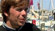 """Sebastien Simon """"Je suis un peu passé par toutes les émotions"""" -  La Solitaire du Figaro Eric Bompard cachemire"""