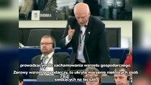Janusz Korwin-Mikke - Pierwsze wystąpienie w PE (Napisy PL) (02.07.2014)