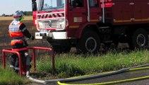 Breuil-le-Sec: un champ détruit par les flammes