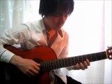 "[With Guitar Tab] ""Fly me to the moon"" Acoustic solo guitar played by Tanaka Yoshinori 田中佳憲 (With Tablature) guitar arrange jazz Bossa nova タブ譜"