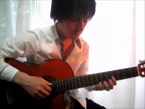 "[With Guitar Tab] ""Fly me to the moon"" Acoustic solo guitar played by Tanaka Yoshinori 田中佳憲 (With Tablature) guitar arrange jazz Bossa nova タブ譜"