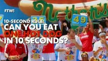 Can you eat a hot dog as fast as Joey Chestnut?