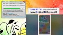 Howto Jailbreak Untethered iOS 7.1.2 Evasion sortie [UPDATE]