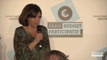 Budget participatif : Discours d'Anne Hidalgo