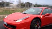 Aquaplaning et crash en Ferrari 458