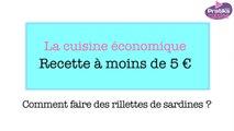 recette rillettes de sardines pour moins de 5 Euros