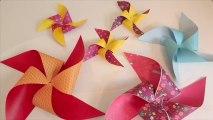 Des moulins à vent en papier japonais