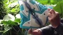 Cheap Lebron Shoes Nike Lebron James 11 Mens White Sea Blue Basketball Shoes