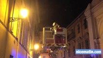 Incendie dans les cuisines  d'un restaurant du vieux Nice