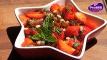 Comment cuisiner une salade de fraises à l'orientale