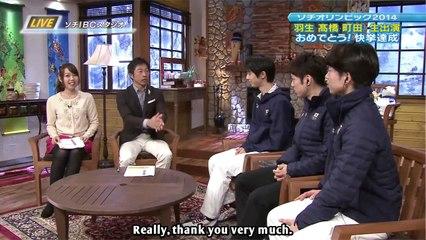 2014/02/15 Post Olympics Interview (Yuzuru, Daisuke, Tatsuki)