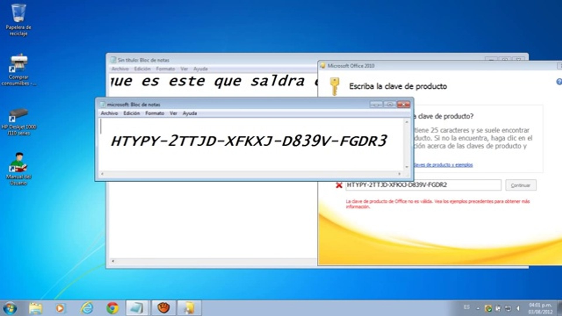 office professional plus 2010 clave