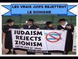 Judaïsme vs Sionisme (Les vrais juifs rejettent le sionisme)