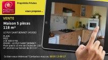 A vendre - maison - LE PUY SAINT BONNET (49300) - 5 pièces - 118m²