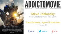 Transformers: Age of Extinction - Trailer #1 Music (Steve Jablonsky - Your Creators Want You Back)