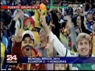 Mundial 2014: Ecuador 2-1 Honduras