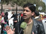 International Women's Day protest T.V. report on-aired by Such T.V. including my interview regarding Kohistan Video Case