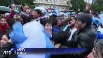 Mondial-2014: la joie des supporteurs à Buenos Aires