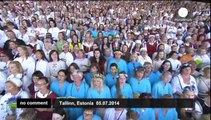 Traditional Estonian celebration gathers 8,500 singers and dancers
