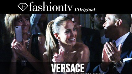 JLo at Atelier Versace Fall/Winter 2014-15 After the Show | Paris Couture Fashion Week | FashionTV