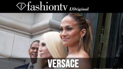 Jennifer Lopez, Miroslava Duma at Atelier Versace Fall 2014 | Paris Couture Fashion Week | FashionTV